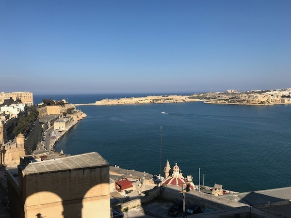 View of the Grand Harbor in Valletta