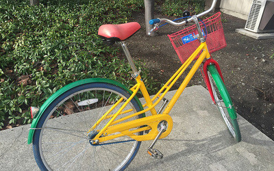 These bikes are readily available for Google employees to easily move around campus!