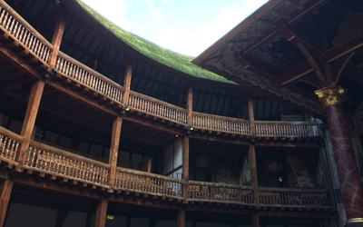 A portion of the seating in the Globe Theatre. Photo courtesy of Anna Becker.