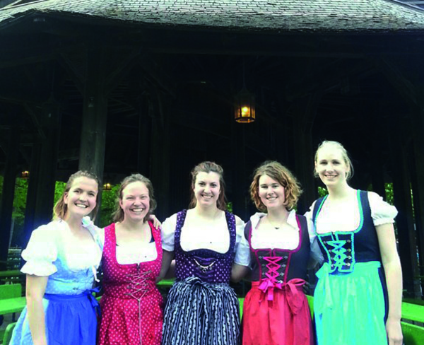 Luther students gather in Munich, Germany. Photo courtesy of Delaney Schurer '18.