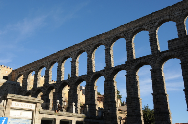 The Aqueduct of Segovia, built over 2000 years ago and used until the 1920s.